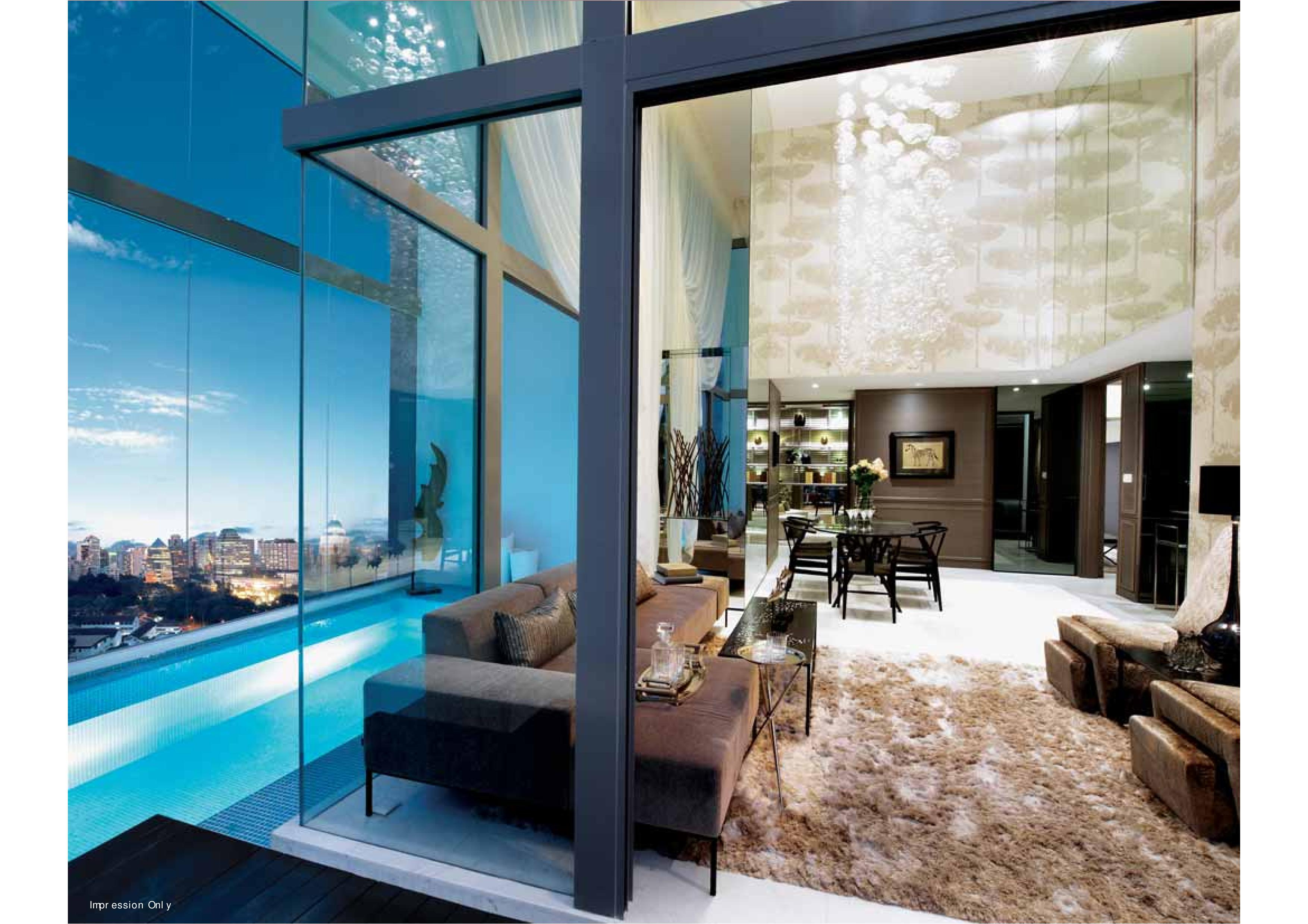 Starlight Suites Living Room Pool